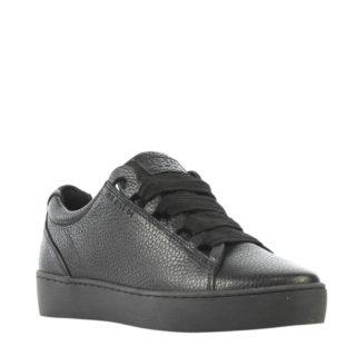 Red Rag leren sneakers (zwart)