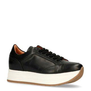 Sacha leren sneakers (zwart)