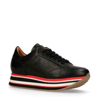 Sacha sneakers leer zwart (zwart)
