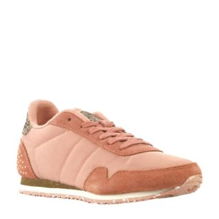 Woden Nora Studded Teen sneakers met studs meisjes (roze)