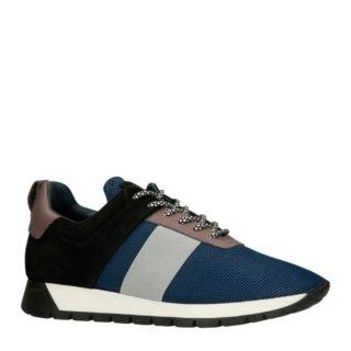 Manfield sneakers met suède (blauw)