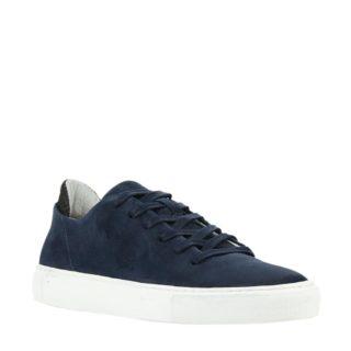 Woden Morten suède sneakers (blauw)