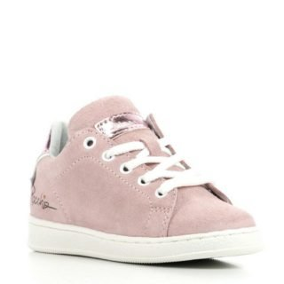 Pinocchio suède sneakers meisjes (roze)