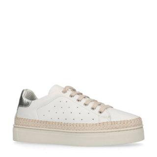 No Stress metallic leren sneakers (wit)