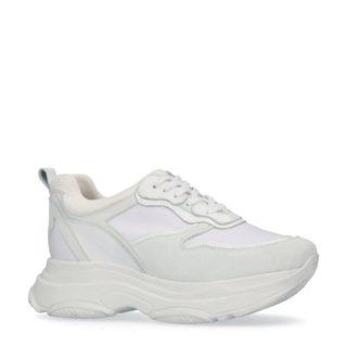 Manfield leren sneakers – wit (wit)