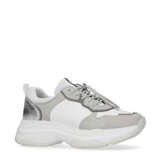 Manfield leren sneakers (wit)