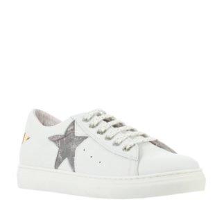 Red Rag leren sneakers met sterren meisjes (wit)
