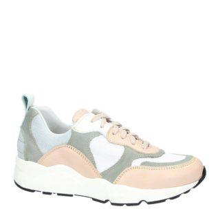 PS Poelman sneakers met leer (wit)