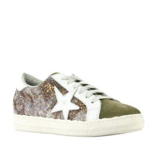 Mace suède sneakers met glitters (groen)