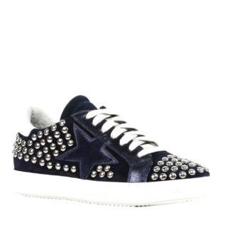 Mace sneakers met studs (blauw)