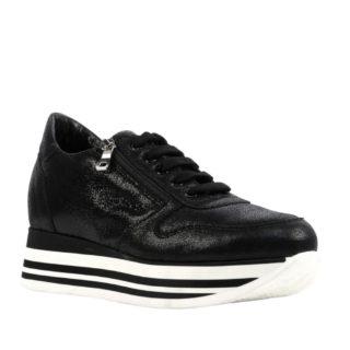 Mace leren sneakers (zwart)