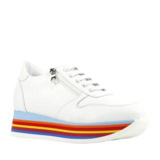 Mace leren sneakers (wit)