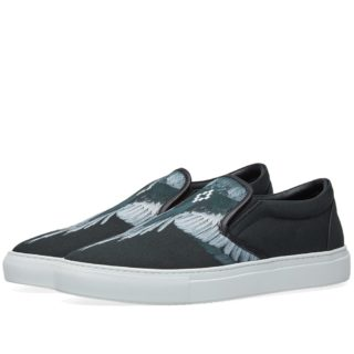 Marcelo Burlon Wings Slip On Sneaker (Black)