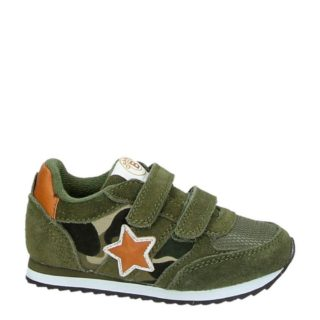 Orange Babies suède sneakers jongens (groen)