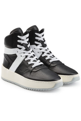 Fear of God Basketball High Top Leather Sneakers #{lastAddedProduct.name} (zwart)