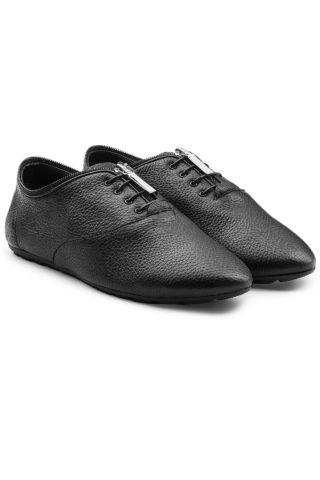 Saint Laurent Gainsbourg Leather Sneakers 283632 (zwart)