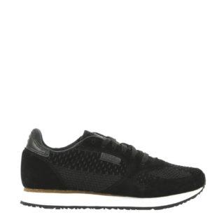 Woden Ydun ll suède sneakers (zwart)