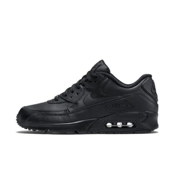 Nike Air Max 90 Leather Herenschoen – Zwart zwart
