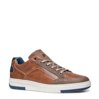 No Stress – No Stress leren sneakers (bruin)