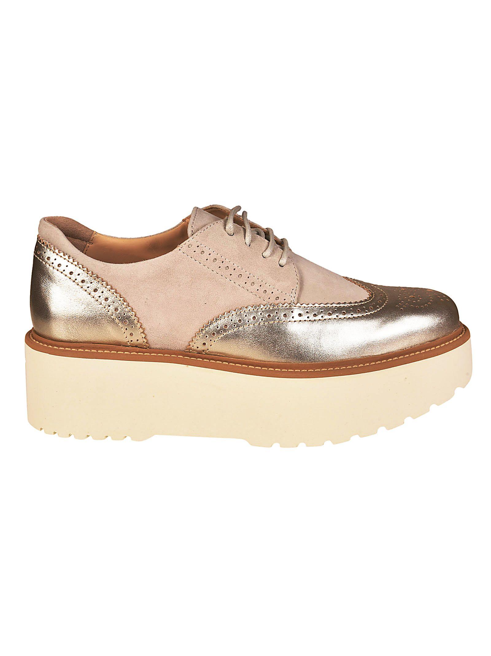 a82ff23138a Hogan Hogan H355 Brogues Platform Sneakers (beige/goud) | 10600292 ...