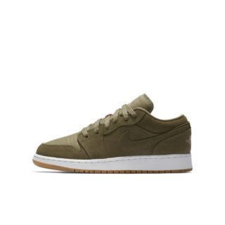 Air Jordan 1 Low Meisjesschoen - Olive groen