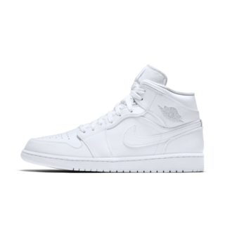 Air Jordan 1 Mid Herenschoen - Wit wit