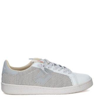 Lotto Leggenda Lotto Leggenda Autograph White And Grey Leather And Mesh Sneaker (wit)