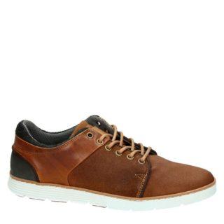 Nelson leren sneakers (bruin)