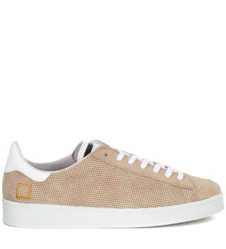 D.A.T.E. Sneaker D.a.t.e. Twist Perforated In Camoscio Beige Traforato (beige)