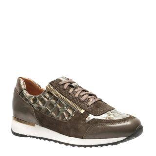 Manfield leren sneakers (groen)