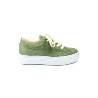 686112 Sneaker groen plateau (Wit)