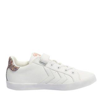 Hummel Deuce Court Princess Jr sneakers meisjes (wit)