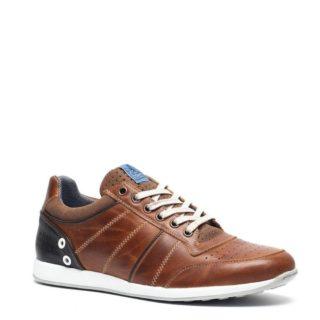 TwoDay leren sneakers (bruin)