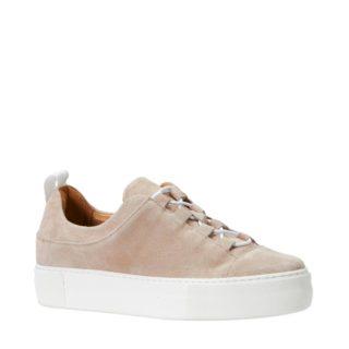 SELECTED FEMME suède sneaker (roze)