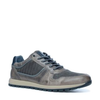Sacha leren sneakers (grijs)