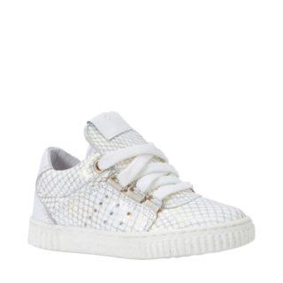 JOCHIE&FREAKS leren sneakers meisjes (wit)