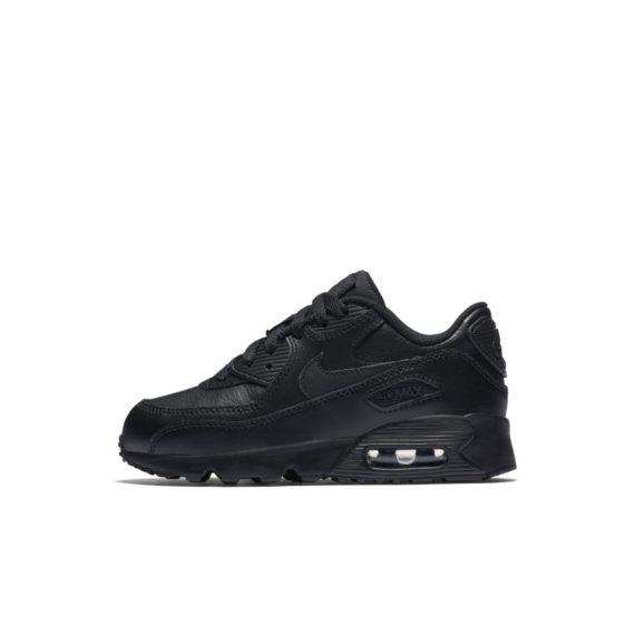Nike Air Max 90 Leather Kleuterschoen – Zwart zwart
