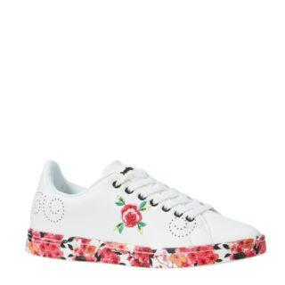 Desigual sneakers met bloemen (wit)