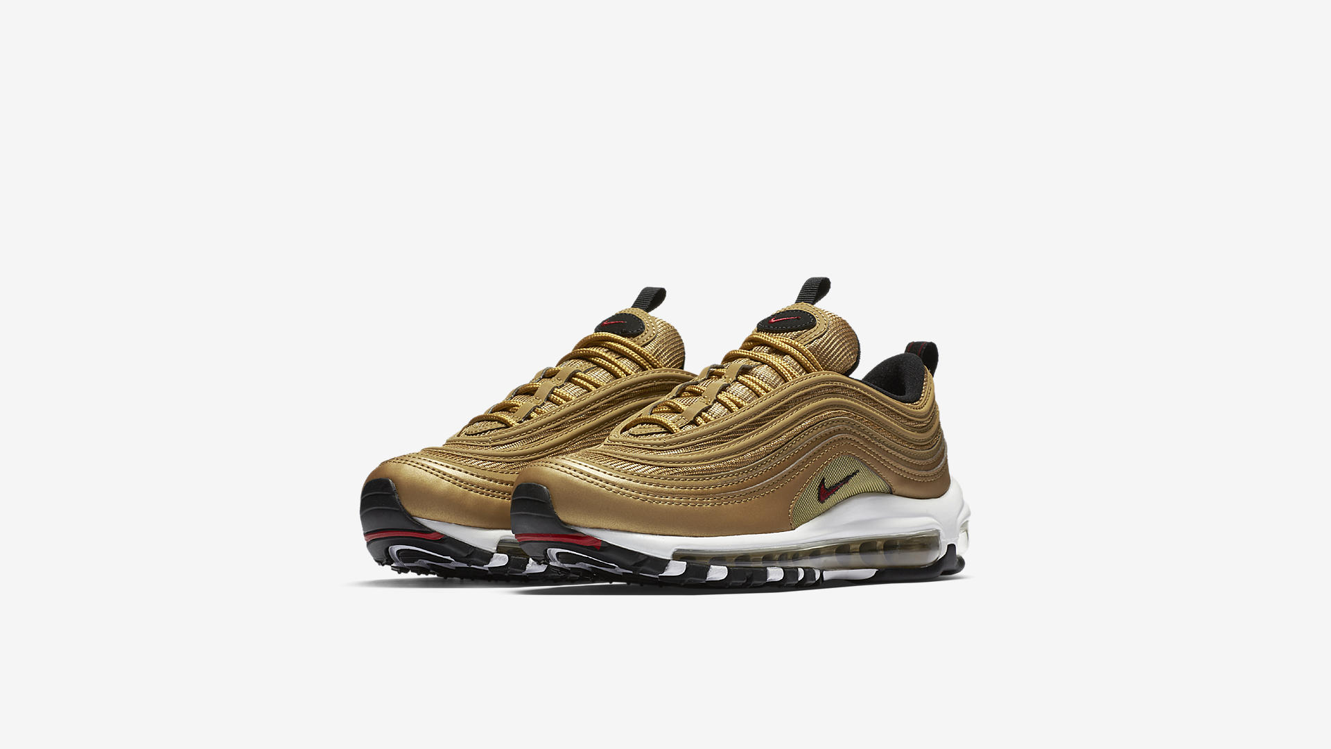 Nike Air Max 97 OG QS Metallic Gold/White/Black/Varsity Red (Dames)