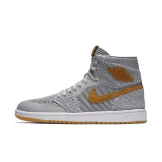 Air Jordan 1 Retro High Flyknit Herenschoen – Grijs grijs