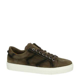 Greve suède sneakers (bruin)
