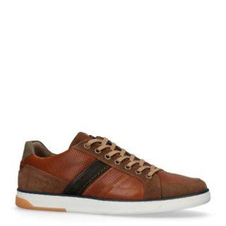 No Stress leren sneakers met suède (bruin)