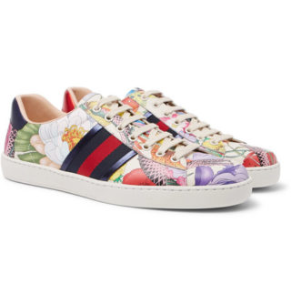 Gucci Ace Printed Leather Sneakers – Multi