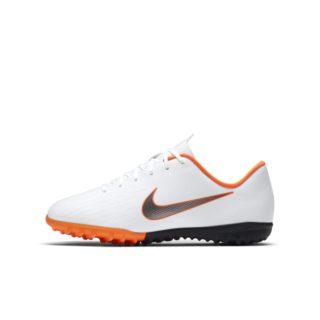 Nike Jr. MercurialX Vapor XII Academy Voetbalschoen voor kleuters/kids (turf) - Wit wit