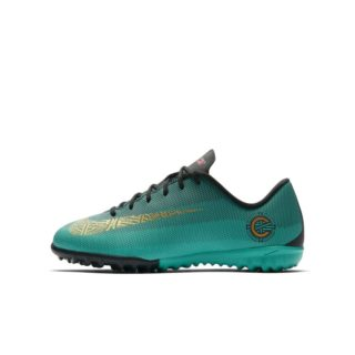 Nike Jr. MercurialX Vapor XII Academy CR7 Voetbalschoen voor kleuters/kids (turf) - Groen groen