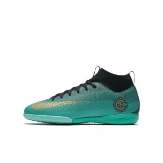 Nike Jr. MercurialX Superfly VI Academy CR7 Zaalvoetbalschoen voor kleuters/kids - Groen groen
