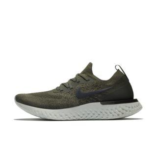 Nike Epic React Flyknit Hardloopschoen voor dames - Olive groen