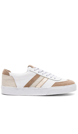 Kaanas Colorado Contrast Stripe Sneaker in Tan