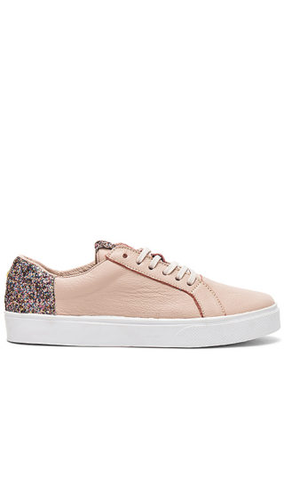 Kaanas San Rafael Sneaker With Contrast Heel in Blush