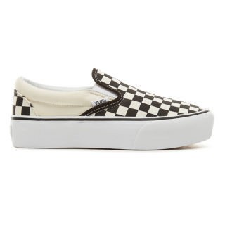 VANS Checkerboard Classic Slip-on Platform Schoenen (zwart)